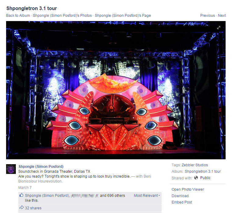"Shpongle - hourevolution 3d video-mapped mograph for ""Dorset Perception"""
